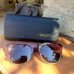 Wildfox club fox tortoiseshell sunglasses